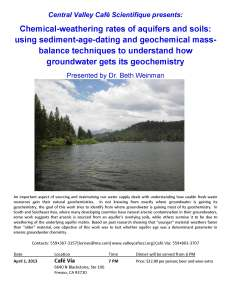 Groundwater geochemistry_CafeScientifique